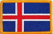 ICELAND Flag Patch With VELCRO® Brand Fastener Military Emblem #93