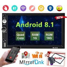 2 DIN 7'' Android 8.1 Radio de coche GPS Navi WiFi Bluetooth FM MP4 MP5 Player
