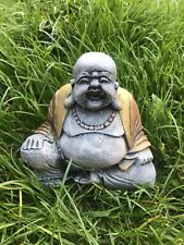 Buddha STONE GARDEN HAPPY SMILING BUDDHA STATUE ORNAMENT