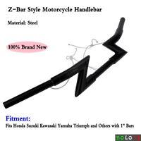 "Custom Motorcycle Handlebars Handle Bar 25mm 1"" Z Bars For Harley Honda Suzuki"