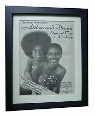 ALTHEA & DONNA+Uptown Top Ranking+POSTER+AD+ORIGINAL 1978+FRAMED+FAST+WORLD SHIP