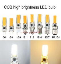 1-10x Dimmable COB LED Light GY6.35 G4 G8 G9 E10 E11 E12 E14 E17 BA15d Lamp bulb