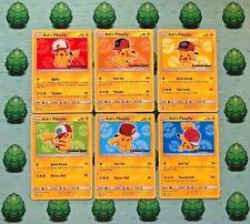 Pokemon - Ash's Pikachu Promo Set - X6[SM109, SM110, SM111, SM112, SM113, SM114]