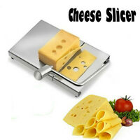 Cheese Slicer Stainless Steel Wire Cutter With Serving Board for Hard and Semi