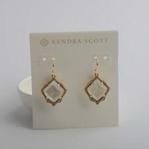 Kendra Scott Kyrie Gold Drop Earrings in Mother of Pearl