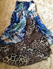BRAND NWT $89.00 SUNNY LEIGH MULTI ANIMAL PRINT SEXY DRESS or SKIRT SIZE M