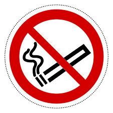 5 Aufkleber Rauchen verboten 10cm Ø Pvc-folie Nichtraucher Rauchverbot