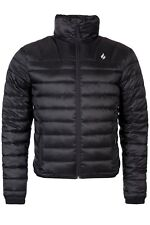 Heat Holders - Mens Waterproof Black Fleece Insulated Winter Puffer Jacket Coat