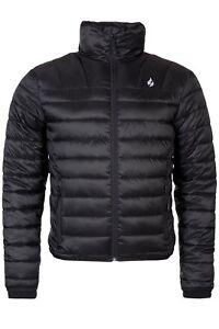 Heat Holders - Mens Waterproof Black Fleece Insulated Winter Puffer Jacket Coat