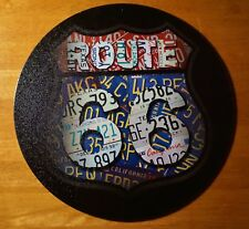 Route 66 Round Vintage Style License Plates Shield Diner or Home Decor Sign NEW