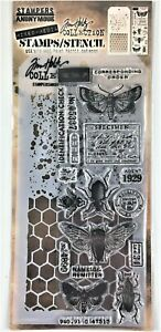 Tim Holtz Stampers Anonymous Speckles & Honeycomb Mixed Media Stamp Stencil Set