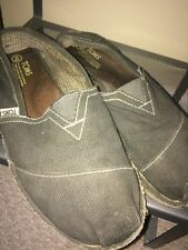 Men's SZ 10M Olive Corduroy Toms One for One slip On Casual Shoes 80216