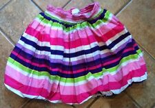 The Childrens Place Girls Striped Bubble Skirt Size 5-6 Small Pink Purple Green