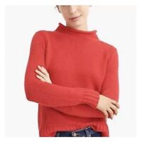 J Crew Always Womens Coral 1988 Roll Neck Long Sleeve Pullover Knit Sweater Sz L