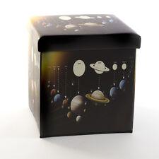 Système solaire pliable boîte de rangement siège ottoman cube repose-pieds home office