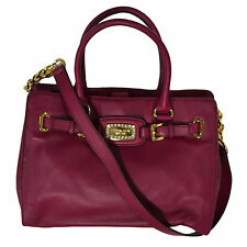 Michael Kors Handbag Hamilton Jewel Deep Pink 38h3xhjt3l Tote Ew Large Leather