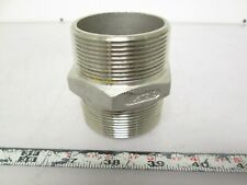 "TC2-316 Hex Nipple 2"" Diameter 316 Stainless Steel"