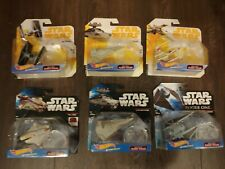 Star Wars Hot Wheels Die Cast Starships Lot of 6. New in box