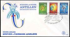 Antille olandesi 1977 SPRITZER & Fuhrmann FDC primo giorno Coperchio #C 26667
