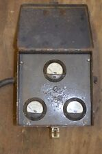 Weston 0-30 A/C Amp Meter Gauge Model 204 0-300v Steampunk Fused Panel Vintage