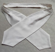 Ascot Cravat MENS Wedding Scrunchie Ruche One Size IVORY WHITE