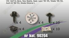 Unterfahrschutz Clips Schrauben für VW Golf IV Bora New Beetle