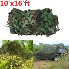 10'x16' ft  Woodland Camouflage Net Jungle Camo Netting Camping Military Hunting
