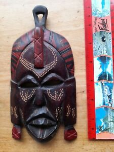 Hand Carved Wood Small Tribal Mask Wall Hanging