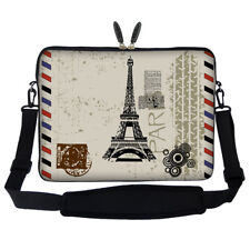 "14"" Laptop Computer Sleeve Case Bag w Hidden Handle & Shoulder Strap 2907"
