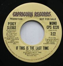 Soul Promo 45 Percy Sledge - If This Is The Last Time / If This Is The Last Time