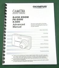Olympus D-630 Zoom Instruction Manual: 134 Pages with Protective Covers!