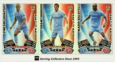 2011-12 Match Attax EPL Soccer Man Of Match Foil Card Team Set (3)-Manchester C.