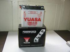 YUASA Conventional 12-VOLT BATTERY-12N5.5-4A F4 H2 KH KZ S1 S2 S3 1970-1978 NOS