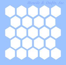 "2"" Honeycomb Stencil Template Hexagon Beehive Craft Stencils Pattern Paint New"