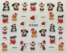 Nail Art 3D Decal Stickers Christmas & Winter Puppies Puppy I Love My Dog E605