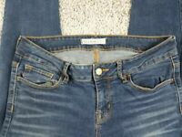 Bullhead Black Womens Skinny Leg Blue Jeans Stretch Denim Size 9 Skinnest fit