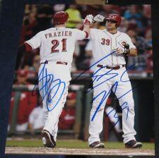 Todd Frazier Devin Mesoraco Cincinnati Reds SIGNED 8X10 Photo COA Autographed
