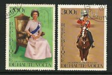 Upper Volta ( Burkina Faso ) 1977 - Silver Jubilee of Queen Elizabeth II (2) CTO
