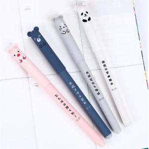 4 Pcs/set Kawaii Pig Bear Cat Mouse Erasable Gel Pen School Office Supplies Stat