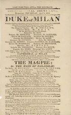 *WORLD's GREATEST ACTOR EDMUND KEAN (1787-1833) RARE 1816 THEATRE BROADSIDE*
