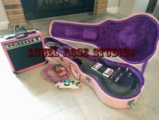 DAISY ROCK RARE PACKAGE BLACK RAINBOW SPARKLE W/ PINK HARD CASE AMP ACCESSORIES