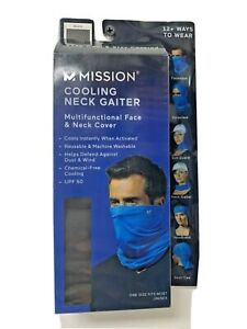 Mission Adult Cooling Neck Gaiter Face & Neck Cover Mask Black / NEW