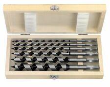 6 Pce x 300mm Auger Bit Set - Hexagon Shank Drills - Supplied in Wooden Case