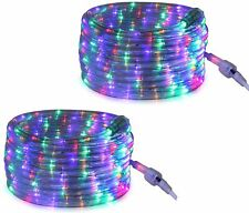 Tupkee LED Rope Light Multi-Color, 24 Feet (7.3 m), Indoor & Outdoor - 2 Pack