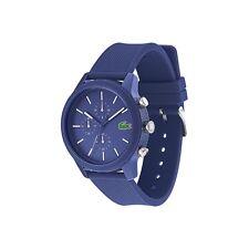 Lacoste Original 2010970 Men's 12.12 Blue Silicone Strap Watch 44mm