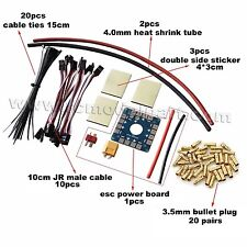 DIY Parts 10CM JR Male Cable 3.5mm Bullet Plug ESC Board Sticker For Multicopter