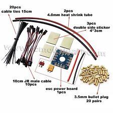 DIY Parts 10CM JR Male Cable 3.5mm Bullet Plug ESC Board Sticker For Multicopter