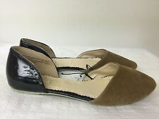 Cooperative Women slip on  Flat Shoes black/tan upper leather/man made size 8.5