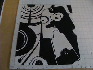 Original Abstract paper collage in black and white -- v cool MODERN