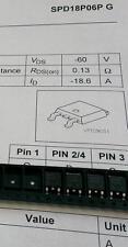 3 Stück SPD18P06P Infineon Power MOS FET SMD P-Chn -18A -60V TO252-3 (M1540)